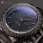 Shark SH187 мужские водонепроницаемые часы с большим циферблатом, хронографом и ремешком из нержавеющей стали.