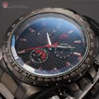 Shark SH191 мужские водонепроницаемые часы с круглым циферблатом, хронографом и ремешком из нержавеющей стали.