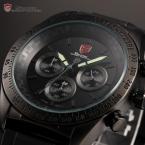 Shark SH274 мужские водонепроницаемые часы с круглым циферблатом, подсветкой и резиновым ремешком.