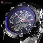 SHARK SH055 мужские водонепроницаемые часы с цифровым дисплеем, будильником и резиновым ремешком.