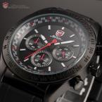 Shark SH271 мужские водонепроницаемые часы с большим циферблатом, подсветкой и резиновым ремешком.
