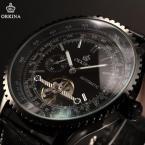 ORKINA ORK168 мужские водонепроницаемые часы с оригинальным циферблатом и ремешком из натуральной кожи.