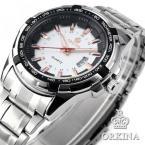 ORKINA ORK127 мужские водонепроницаемые часы с круглым циферблатом, календариком и ремешком из нержавеющей стали.