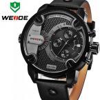 WEIDE WH3301 мужские водонепроницаемые часы с оригинальным циферблатом, календариком и кожаным ремешком.