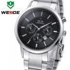 WEIDE 3312-2 мужские водонепроницаемые часы с большим циферблатом, календариком и стальным ремешком.