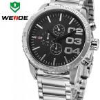 WEIDE WH3310S мужские водонепроницаемые часы с круглым циферблатом и ремешком из нержавеющей стали.