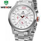 WEIDE WH3311Y мужские водонепроницаемые часы с большим циферблатом, календариком и стальным ремешком.