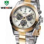 WEIDE WH3309SG мужские водонепроницаемые часы с японским механизмом, круглым циферблатом и стальным ремешком.
