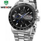 WEIDE WH3313R мужские водонепроницаемые часы с круглым циферблатом, календариком и стальным ремешком.