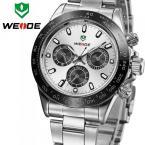 WEIDE мужские водонепроницаемые часы с круглым циферблатом и ремешком из нержавеющей стали.