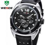 WEIDE WH3306R мужские водонепроницаемые часы с круглым циферблатом, подсветкой и кожаным ремешком. (3 цвета)