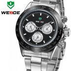 WEIDE WH3309G мужские водонепроницаемые часы с круглым циферблатом и стальным ремешком.