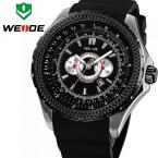 WEIDE WH3303B мужские водонепроницаемые часы с оригинальным циферблатом, календариком и резиновым ремешком.