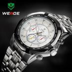 WEIDE WH-1010-2 мужские водонепроницаемые часы с большим циферблатом и ремешком из нержавеющей стали.