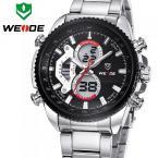 WEIDE WH3410 мужские водонепроницаемые часы с цифровым светодиодным дисплеем, календариком и ремешком из нержавеющей стали. (5 цветов)