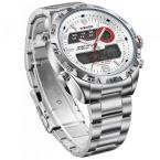 WEIDE мужские водонепроницаемые часы с цифровым дисплеем, календариком, подсветкой, будильником и ремешком из нержавеющей стали. (6 цветов)
