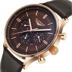 GUANQIN мужские водонепроницаемые мульти-функциональные часы с круглым циферблатом, календариком и кожаным ремешком.