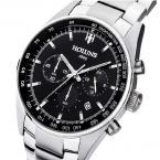 HOLUNS мужские водонепроницаемые мульти-функциональные часы с большим циферблатом, календариком и ремешком из нержавеющей стали.