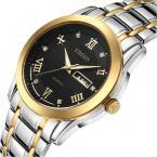 TDISO водонепроницаемые мужские часы с круглым циферблатом, календариком и ремешком из нержавеющей стали.
