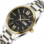 TDISO водонепроницаемые мужские часы с большим циферблатом, календариком и ремешком из нержавеющей стали.