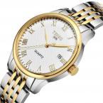 TDISO мужские водонепроницаемые часы с круглым циферблатом, календариком и ремешком из нержавеющей стали.