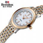 Bestdon BD9933L женские водонепроницаемые часы с круглым циферблатом и ремешком из нержавеющей стали.