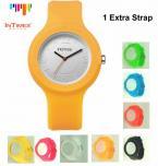 InTimes IT-092 женские водонепроницаемые часы с круглым циферблатом и силиконовым ремешком. (8 цветов)