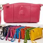 Women's Genuine  LEATHER Clutch Bag Coin Purse Wrist bag Handbag Cell Phone Bag  S126