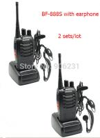 1 pair 2014 BaoFeng 2 Way Radio BF-888S Walkie talkie UHF 400-470MHz 16CH FM Transceiver CTCSS with earpiece