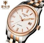 HOLUNS водонепроницаемые мужские часы с большим циферблатом, календариком, хронографом и ремешком из нержавеющей стали.