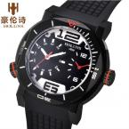 HOLUNS Unisex водонепроницаемые часы с круглым циферблатом, хронографом и резиновым ремешком.
