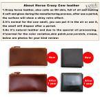 Hot selling crazy horse leather wallet men retro long money bag purse Male bi-fold wallets money clip,KZF410