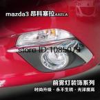 Accessories FIT FOR 2014 MAZDA 3 AXELA CHROME FOG LIGHT EYEBROW EYELID GARNISH TRIM COVER MOLDING