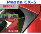 Accessories FIT FOR 2013~ MAZDA CX5 CX-5 CHROME REAR WINDOW TRIANGLE COVER TRIM MOLDING GARNISH