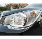 Accessories FIT FOR 2013 2014 Subaru Forester CHROME HEADLIGHT EYELID  head light lamp TRIM COVER MOLDING EYEBROW GARNISH