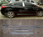 ACCESSORIES FIT FOR 2011 2012 2013 HYUNDA ELANTRA 4DR CHROME SIDE BODY DOOR MOULDING TRIM STRIPS