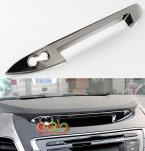 Accessories FIT FOR 2011-2015 HYUNDAI ELANTRA CHROME CENTER PANEL COVER TRIM BEZEL MOLDING SURROUND DASH BOARD