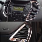 Accessories FIT FOR 2013 2014(DM) HYUNDAI SANTA FE IX45 CHROME DASHBOARD AIR VENT COVER TRIM SURROUND