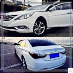 Accessories FIT FOR 2011 2012 2013 HYUNDAI SONATA YF i45 CHROME FRONT REAR FOG LIGHT COVER GARNISH TRIM MOLDING LAMP