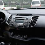 Accessories FIT FOR KIA SPORTAGE 2010 2011 2012 2013 2014 CHROME DASHBOARD AIR VENT TRIM COVER SURROUND MOLDING