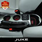 JUKE  Car Cup Mat/Pad Car Accessories Gate Slot Pad door pad luminous Non-Slip Interior door pad/cup mat 11pcs/set