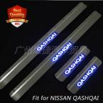 High quality 4Pcs/set Chrome LED Door Sill for NISSAN QASHQAI I 2007-2014 Stainless Steel Door Sill Scuff Plates Welcome Pedal