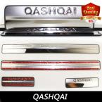 Dualis Stainless Door Scuff Sill Plate Cover Trim fit for Qashqai qashqai  stainless steel  dual tone door sills