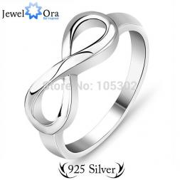 Genuine 925 Brand Rings For Women Knot Ring Sterling Silver S925 Stamped Silver Ti Infinity Ring (JewelOra Ri101137)