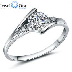 925 Serling Silver Ring Cubic Zirconia Women Wedding Silver Ring (JewelOra RI101250)