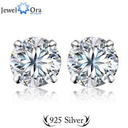 Genuine 925 Sterling Silver Earrings For Women Sterling Silver Jewelry 5.6.7.8Mm Piercing Stud Earring (Jewelora EA100129)
