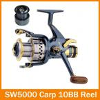 SUPERIOR METAL SPINNING FISHING REEL 9+1BB SW5000 powerful Carp reel bait casting reel fly fishing reel