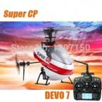 Walkera Super CP 6CH 3D RC Helicopter With DEVO 7 Transmitter  2.4Ghz RTF Christmas gift