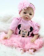 2015 Fashion Handmade Reborn Baby Doll Soft Silicone Boneca Lifelike Realistic 22 inch Cute Reborn Baby By NPK Dolls