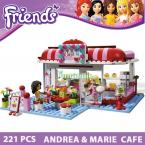 Building Blocks Compatible with lego Friends Cafe Action Figure Brinquedos Learning Education Toys Model Building Toys Hobbies